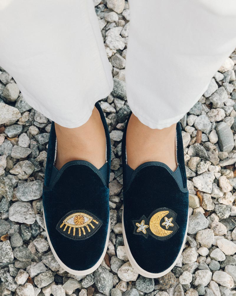 Celestial Slip On Sneaker navy