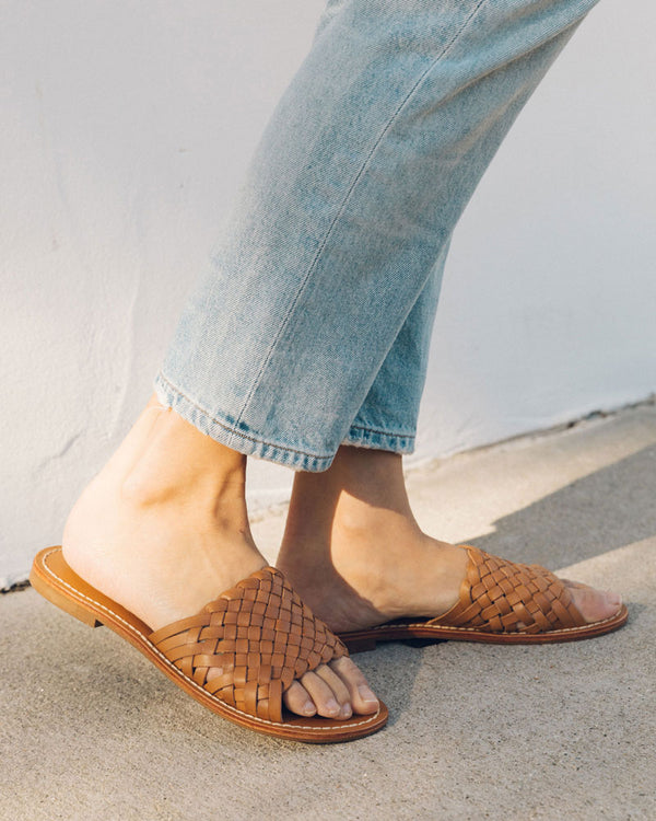 91f99fdaec3 Woven Leather Slide Sandal image ...