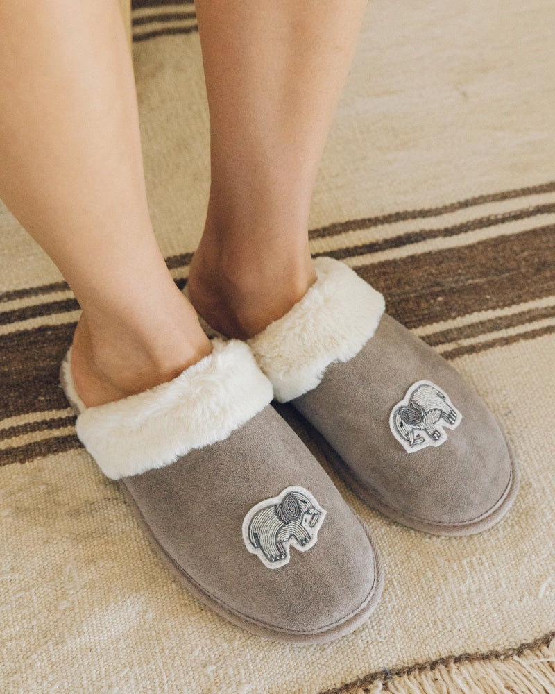 Cozy Slipper mineral-grey