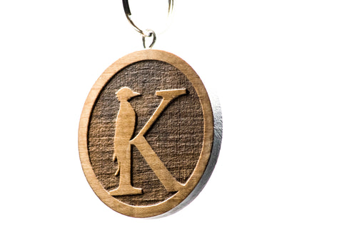 Customizeable wood keychain laser cut logo designs kasanova