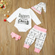 4-piece Baby Bodysuit, Pants, Hat and Hairband Set for Baby Girl