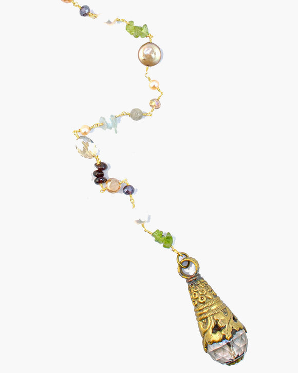 Algonquin Adjustable Gemstone Y Necklace