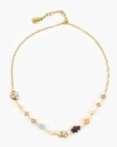 Andaz Gemstone and Chain Necklace, Julio Designs, Frisco, TX