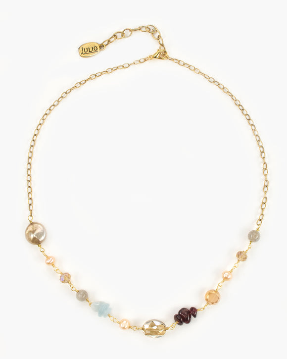 Andaz Gemstone and Chain Necklace
