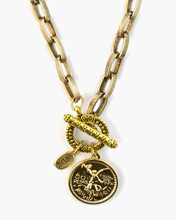 Answer Toggle Front Coin Necklace
