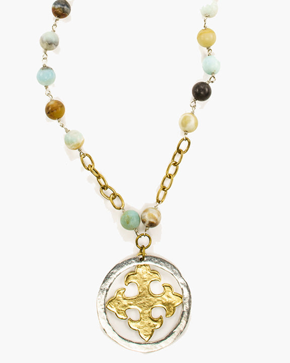Brasilia Beaded Pendant Necklace