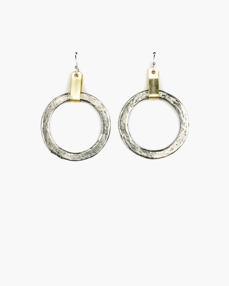 Tab Top Medium Hoop Earring (ER241)
