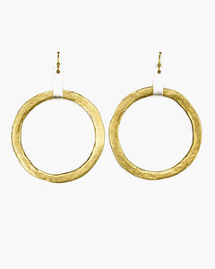 Tab Top Large Hoop Earring (ER242)