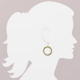 Wire Wrapped Medium Hoop Earring (ER271)