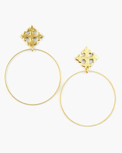Maltese Cross Post Top Earring (ER348)