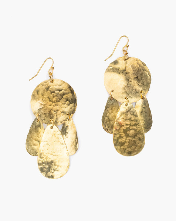 ER355 Hammered Dangle Earring