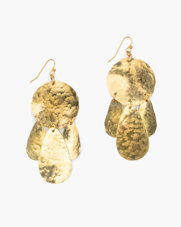 Hammered Dangle Earring (ER355)