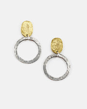 Medium Hammered Circle Post Top Earring (ER497)