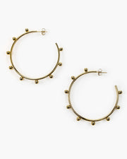 Large Dotted Hoop Earring (ER511)