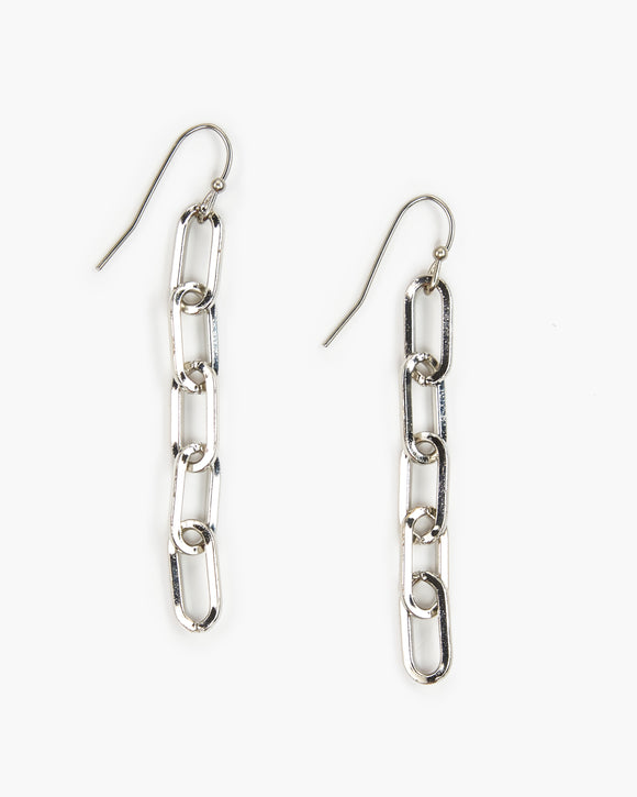 Small Paperclip Chain Earring (ER516)