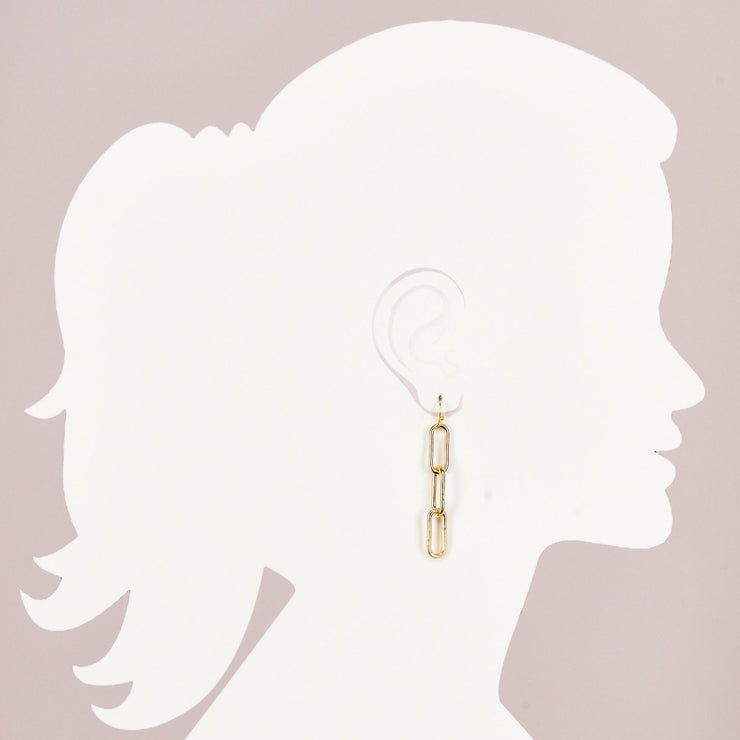 Large Paperclip Chain Earring (ER517)