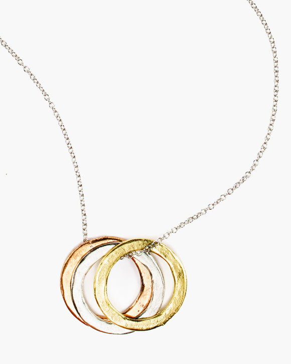 Erie Triple Ring Necklace
