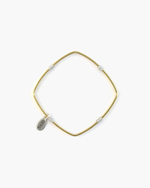 Fennel Square Bangle Bracelet