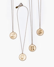 Nestle Initial Monogram Pendant Necklace
