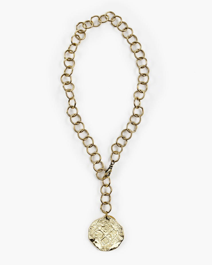 Steinem Large Coin Pendant Necklace