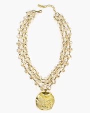 Thrill Crystal Coin Necklace