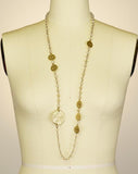 Viscose Crystal and Coin Necklace
