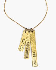 Voice Custom Stamped Phrase Necklace