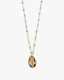 Almond Joy Cowry Shell Necklace