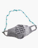Face Mask Lanyard Holder with Turquoise Beaded Chain