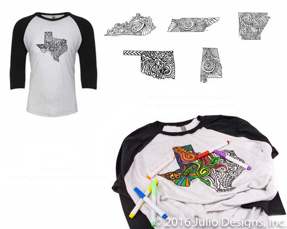 DIY Coloring Baseball Tee