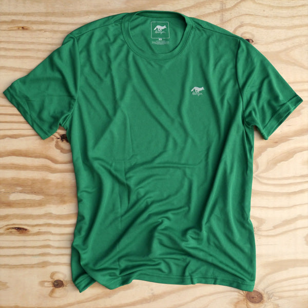 Runyon Men's Green Clover Performance Trail Shirt made in usa fitness wear running hiking yoga outdoors runyon canyon apparel
