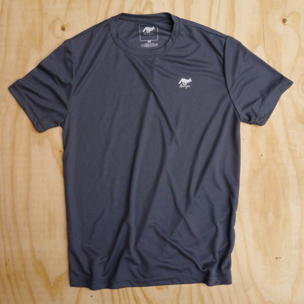 Runyon Men's Graphite Stone Performance Trail Shirt made in usa fitness wear running hiking yoga outdoors runyon canyon apparel