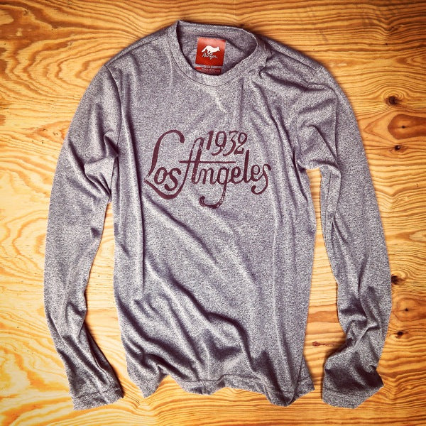 Runyon Men's 1932 Los Angeles Long Performance Shirt made in usa fitness wear running hiking yoga outdoors runyon canyon apparel