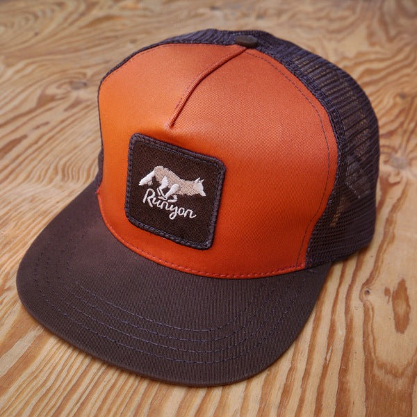 Runyon Burnt Woods Organic Trucker Hat made in usa fitness wear running hiking yoga outdoors runyon canyon apparel
