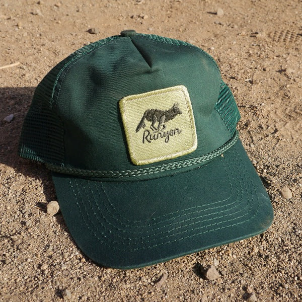 Runyon Green Forester Terry Sweatband Vintage Trucker Hat made in usa fitness wear running hiking yoga outdoors runyon canyon apparel
