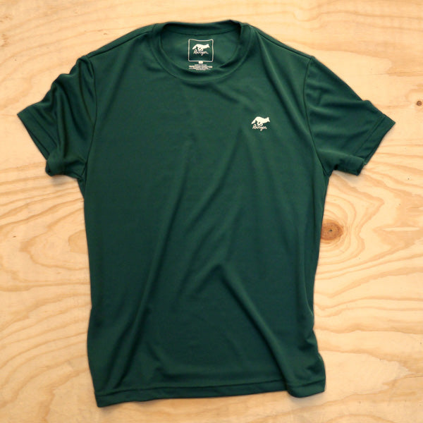Runyon Men's Forest Green Performance Trail Shirt made in usa fitness wear running hiking yoga outdoors runyon canyon apparel