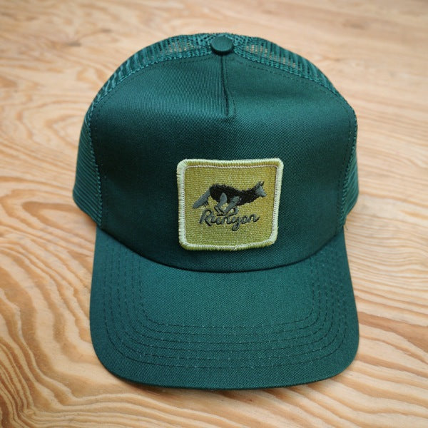 Runyon Green Forester Canyon Trucker Hat made in usa fitness wear running hiking yoga outdoors runyon canyon apparel