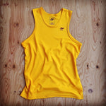 Runyon Men's Golden Performance Power Tank made in usa fitness wear running hiking yoga outdoors runyon canyon apparel