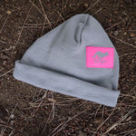 Runyon Hot Pink Greystone Reflective Cuff Hat made in usa fitness wear running hiking yoga outdoors runyon canyon apparel | Runyon Canyon Apparel