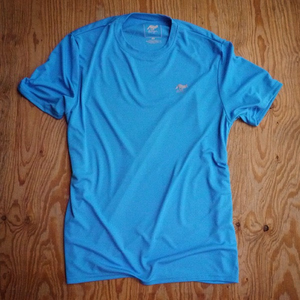 Runyon Men's Amazing Blue Training Shirt made in usa fitness wear running hiking yoga outdoors runyon canyon apparel