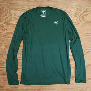 Runyon Men's Green Forrester Long Fitness Performance Running Shirt | Made In USA