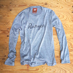 Runyon Men's Signature Long Sleeve Script Performance Fitness Shirt made in usa fitness wear running hiking yoga outdoors runyon canyon apparel