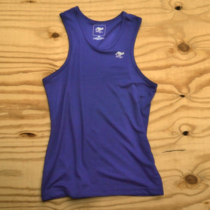 Runyon Men's Navy Blue Performance Tank made in usa fitness wear running hiking yoga outdoors runyon canyon apparel