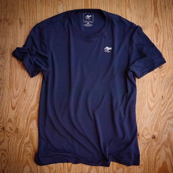 Runyon Men's Navy Training Shirt made in usa fitness wear running hiking yoga outdoors runyon canyon apparel