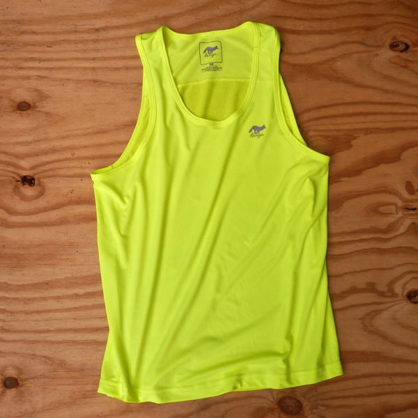Runyon Men's Neon Yellow Training Singlet made in usa fitness wear running hiking yoga outdoors runyon canyon apparel