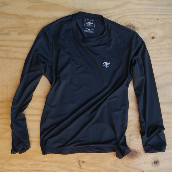 Runyon Men's Black Long Marine Performance Base Layer made in usa fitness wear running hiking yoga outdoors runyon canyon apparel