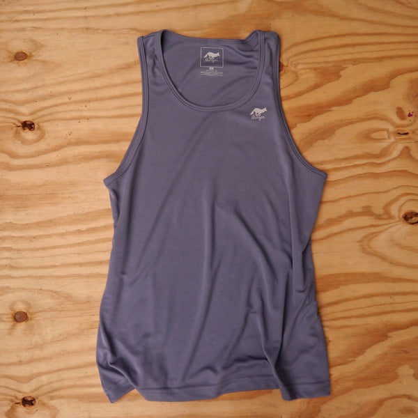 Runyon Men's Gray Stone Fitness Tank Top made in usa fitness wear running hiking yoga outdoors runyon canyon apparel