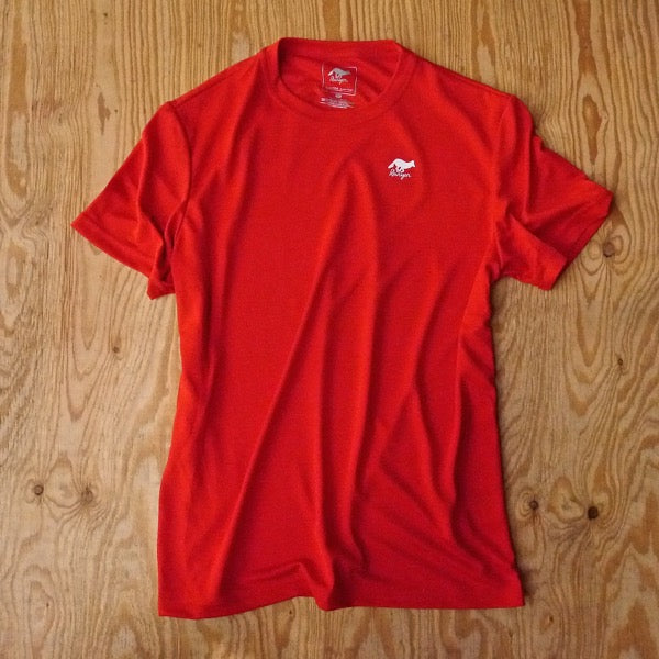 Runyon Men's Red Training Shirt made in usa fitness wear running hiking yoga outdoors runyon canyon apparel
