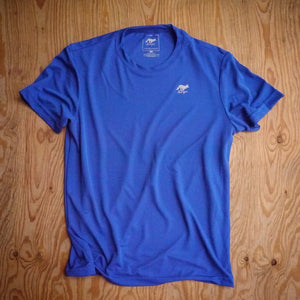 Runyon Men's Royal Blue Training Shirt made in usa fitness wear running hiking yoga outdoors runyon canyon apparel