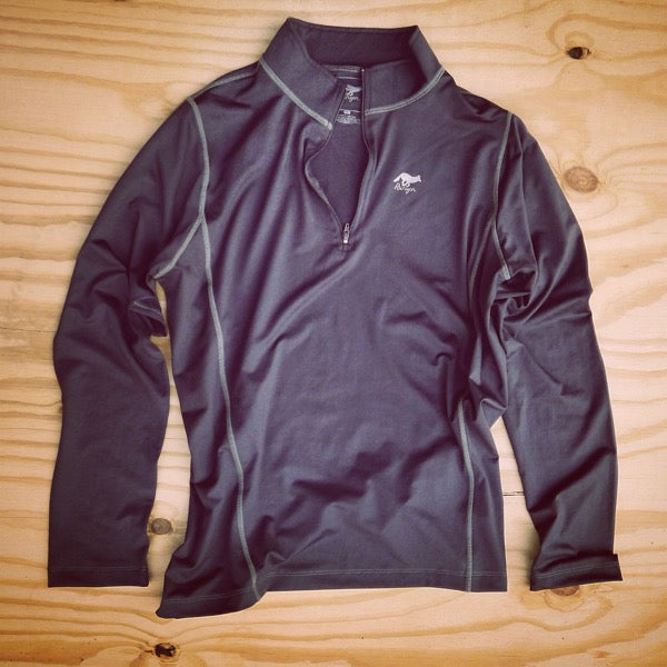 Runyon Men's Slate Performance Quarter Zip-Up made in usa fitness wear running hiking yoga outdoors runyon canyon apparel